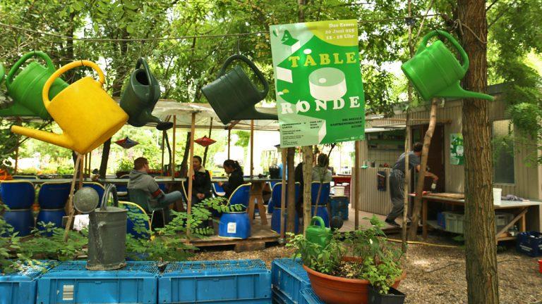 Prinzessinnengarten has a few cafés, where employees sell food that grows in the garden.(Marielle Segarra/WHYY)