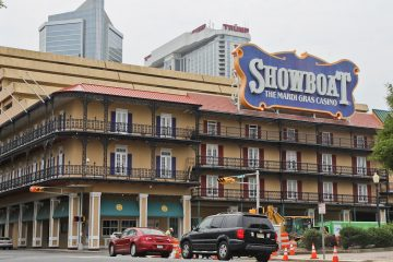 Showboat casino in Atlantic City, N.J., is expected to close in September. (Kimberly Paynter/WHYY)