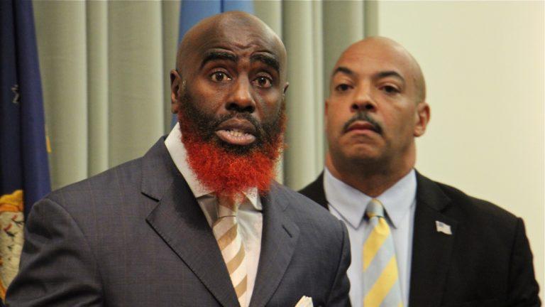Philadelphia district attorney candidate Tariq El-Shabazz. (Emma Lee/WHYY)