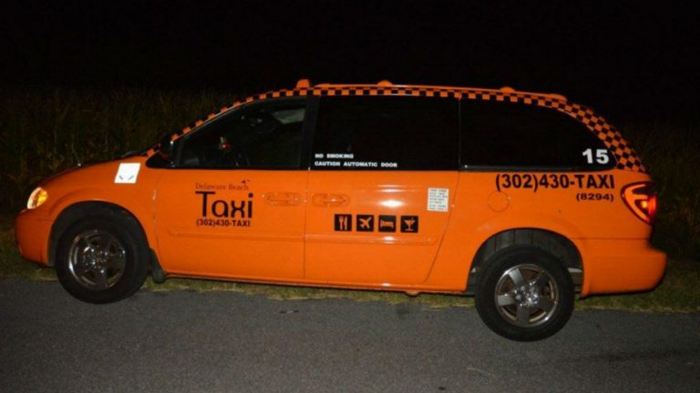 Toomey's taxi was found abandoned on Country Living Rd. in Millsboro.  (photo courtesy of Delaware State Police)