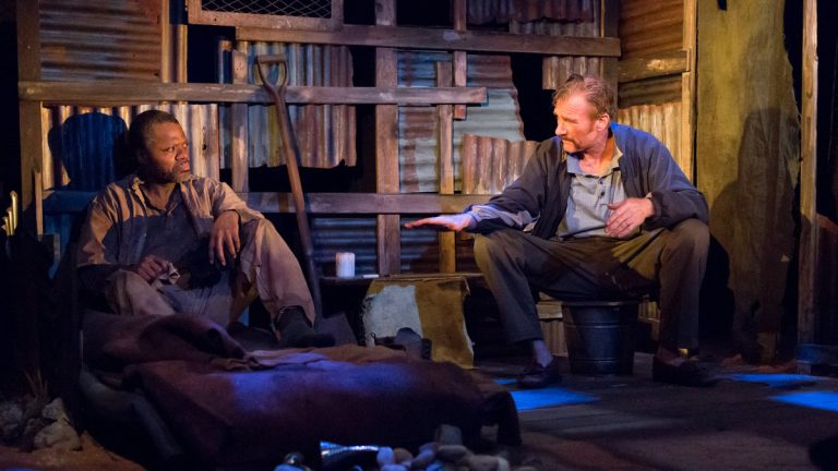 Kirk Wendell Brown (left) and Peter DeLaurier in Lantern Theater Company's production of 'The Train Driver'  (Photo courtesy of Mark Garvin)