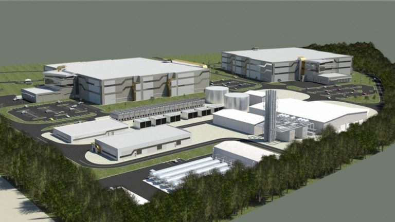 An artist's conception of The Data Centers project (photo courtesy TDC)