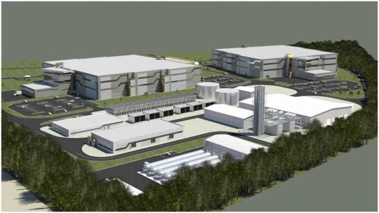 Rendering of proposed data center and CHP (Photo courtesy of TDC)