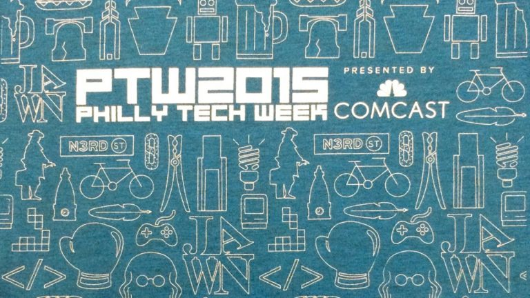 Detail from the official Philly Tech Week 2015 t-shirt