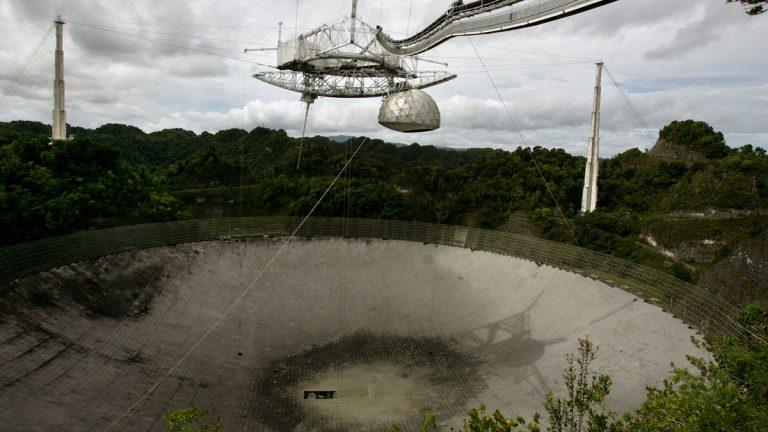 The world's largest radio telescope near Arecibo