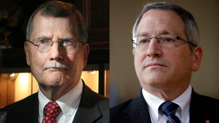 Richard M. Englert (left) will serve as acting president of Temple University