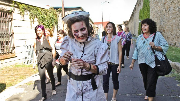 This year, visitors to Terror Behind the Walls at Eastern State Penitentiary have the option to be