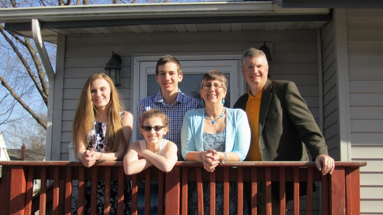 The Hinrichs family, photographed almost a year after Kurt's stroke. (Courtesy of Kurt Hinrichs)