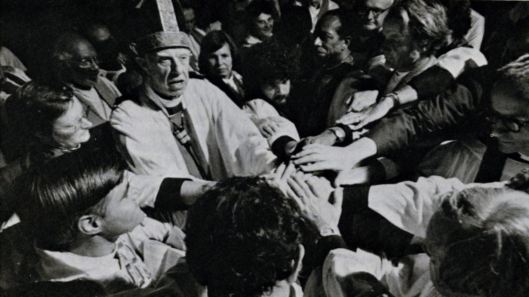 On July 29, 1974, 11 women were ordained as Episcopal priest at he Church of the Advocate in North Philadelphia. It was an 'act of tender defiance' of Episcopal law.
