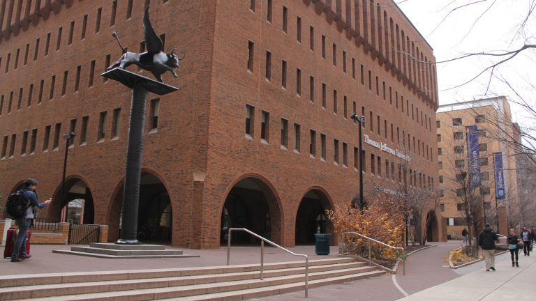 Thomas Jefferson University in Center City will merge with Philadelphia University in East Falls. (Emma Lee/WHYY)