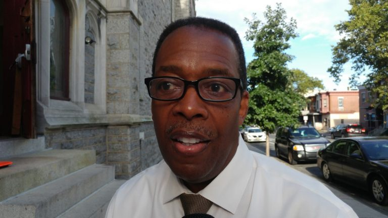 Philadelphia Council President Darrell Clarke outlines some of his plans for the the fall as city lawmakers get back to work. (Tom MacDonald/WHYY)