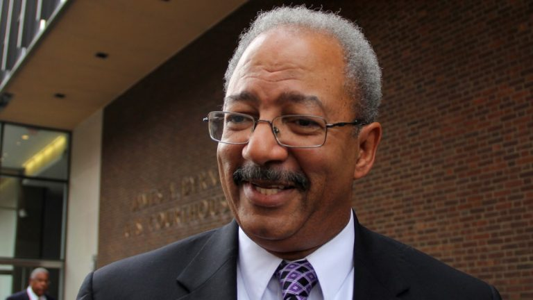 A federal judge has acquitted former U.S. Rep. Chaka Fattah of four bank and mail fraud counts. No sentencing date has been set for him on the 18 other counts of corruption he was convicted of in June. (Emma Lee/WHYY)