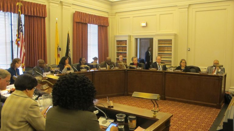 The New Jersey Assembly Education Committee votes Monday to advance the measure to scrap passing the PARCC standardized test as a requirement for high school graduation. (Phil Gregory/WHYY)