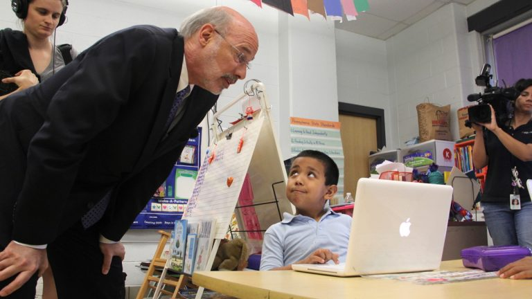 A tentative agreement between Gov. Tom Wolf and leaders in the Republican-held House and Senate includes a $400 million increase for K-12 public education this year. (NewsWorks file photo)