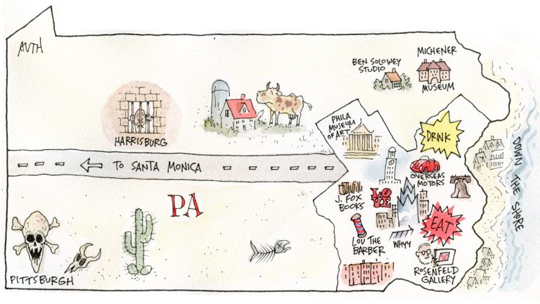 Map of Pennsylvania by Tony Auth.