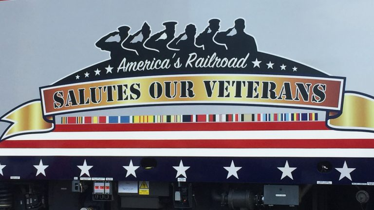 Amtrak announced a new locomotive Monday that honors veterans.