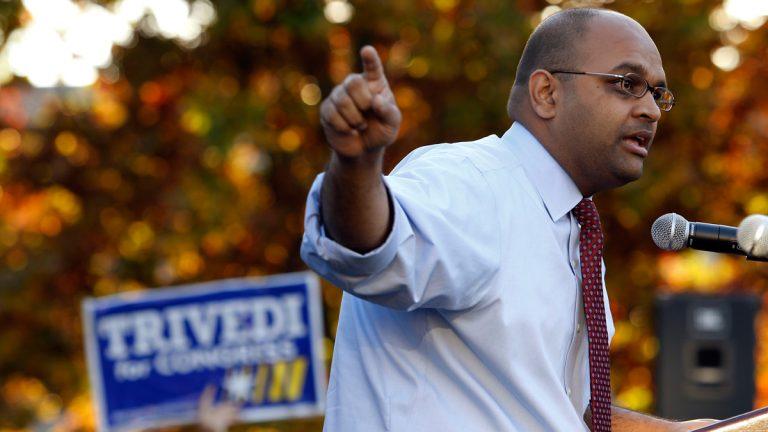 Pennsylvania Democratic Congressional candidate Manan Trivedi. (AP Photo/Matt Rourke, file)
