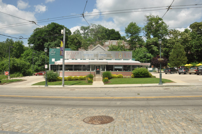 The Trolley Car Diner represents Ken Weinstein's support for Mt. Airy's continued revival. (Image courtesy of Randy Garbin)