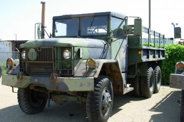 A 2.5-ton M35 military cargo truck, also known as a deuce and a half, which is similar to the vehicle used by the Mantoloking Police Department. (Image courtesy of Wikimedia Commons' user Nobunaga24)