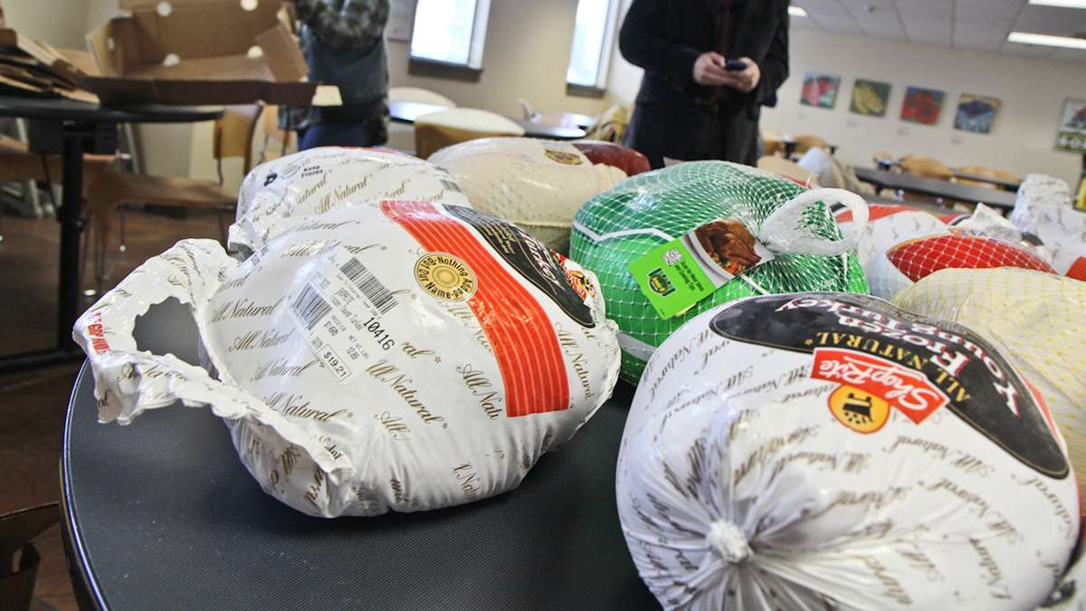 About 400 turkeys were given out in West Philadelphia on Tuesday. Check out our round up of where to go in NW Philly. (Kimberly Paynter/WHYY)