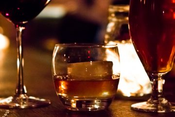 Wine, whiskey, and beer at The Twisted Tail. (Kimberly Paynter/WHYY)