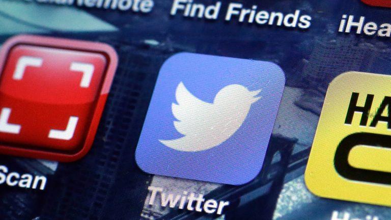 The Twitter mobile site app. (AP Photo/Richard Drew)