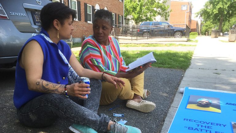 Edwina Bell counsels women who are involved in prostitution. (Zoë Read/WHYY)