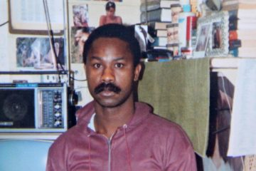 This photograph shows a detail of a snapshot of Tyrone Jones in his prison cell in in the 1980s. (Emma Lee/for NewsWorks)