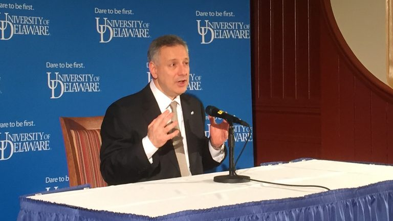 The University of Delaware announced Dennis Assanis as its new president. (Zoe Read/WHYY)