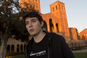 Undocumented student Vlad Stoicescu-Ghica, 21, originally from Romania, is shown in this 2014 photograph at the University of California, Los Angeles. (AP Photo/Damian Dovarganes)