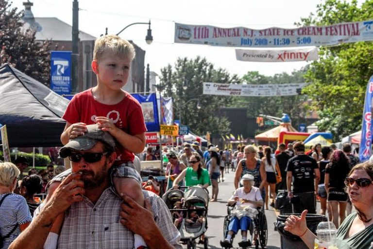 A crowd at the 2013 Ice Cream Festival in downtown Toms River. (Photo courtesy of Erik Weber/Riverside Signal)