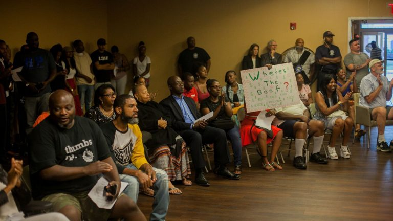 More than 200 people attended a hearing Tuesday evening to respond to the city's proposed financial recovery plan