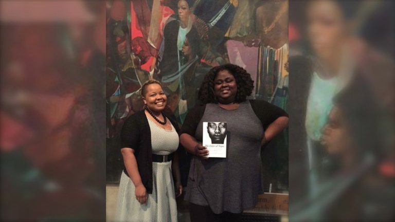 Vanessa Hazzard and Iresha Picot pose with a collection of stories they edited called 'The Color of Hope.' (Photo courtesy of Picot)
