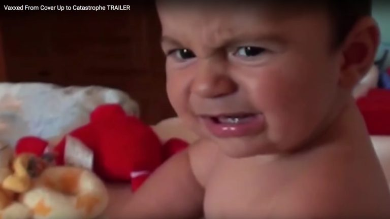 A still from the controversial anti-vaccination documentary Vaxxed