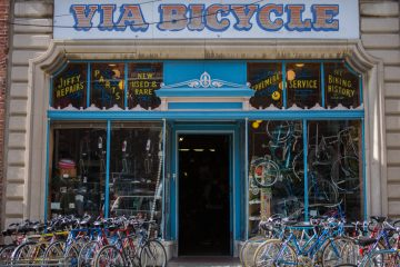 Via Bicycle is moving from its storefront on Ninth Street to Broad and Bainbridge. (Jessica Kourkounis/for WHYY)