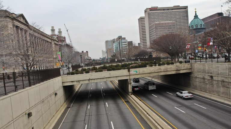Seven bridges crossing Route 676 are slated to be rebuilt. (Kimberly Paynter/WHYY)