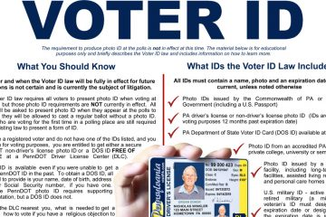 A Montgomery County commissioner believe this Pennsylvania handout about voter ID will confuse voters.