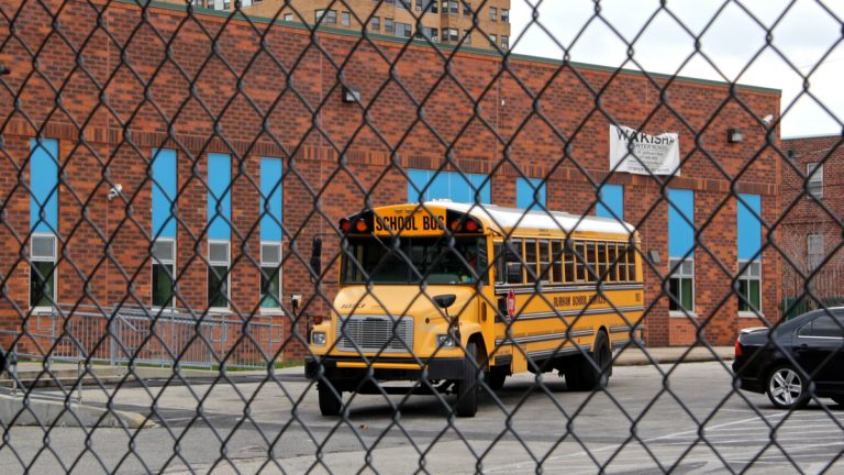 Wakisha Charter School at 9th and Jefferson streets will close at the end of the week. (Emma Lee/WHYY)