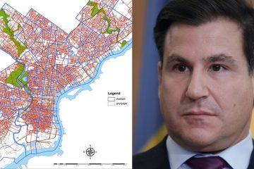 City of Philadelphia Wards & Divisions Map (left) State Sen. Larry Farnese