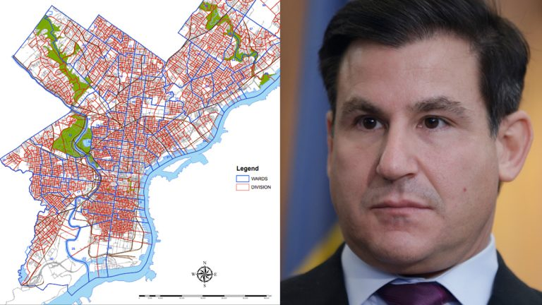 City of Philadelphia Wards & Divisions Map (left) State Sen. Larry Farnese