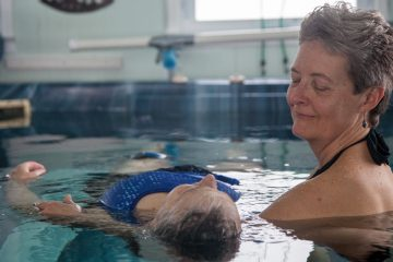 Watsu is a combination of aquatic therapies and shiatsu massage founded by Howard Dull in the early 1980s. (Emily Cohen/for NewsWorks)