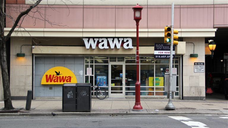 A Wawa store at 11th and Arch streets in Philadelphia. (Emma Lee/WHYY)