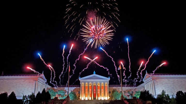 July 4th fireworks over the Philadelphia Museum of Art. Photo by William Z. Foster (courtesy of the Wawa Welcome America Festival).