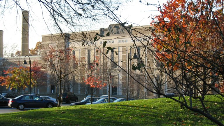 A high school in the Lower Merion School District, where the number of parents opting students of out standardized tests increased twentyfold this year. (Image via Benofmerion/Wikimedia Commons)