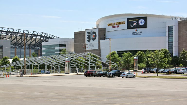 The Democratic National Convention will meet at the Wells Fargo Center. (Emma Lee/WHYY)