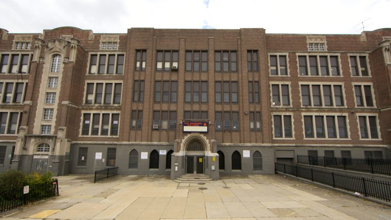 The city of Philadelphia is selling the West Philadelphia High School building, located on4700 Walnut St., for $6.5 million. (NewsWorks, file)