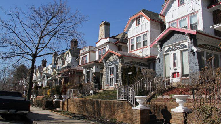 A neighborhood in West Philadelphia. (Emma Lee/WHYY, file)
