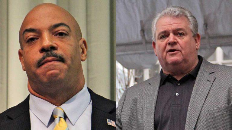 Philadelphia District Attorney Seth Williams (left) and U.S. Rep. Bob Brady (Emma Lee/WHYY)