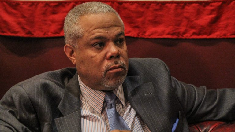 PA Sen. Anthony Hardy Williams is one of six Democratic candidates for mayor running in the May primary. (Kimberly Paynter/WHYY)
