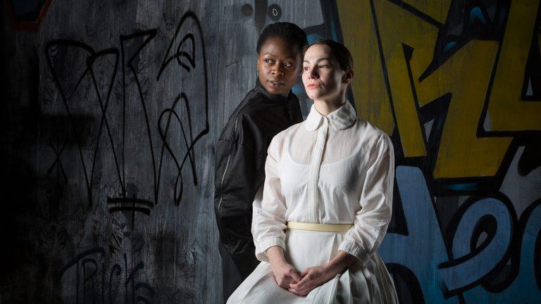 Zainab Jah and Sarah Gliko in Shakespeare's